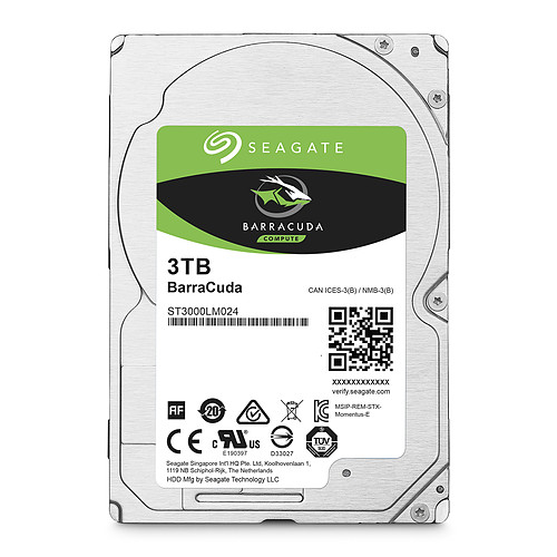 Seagate BarraCuda 3 To (ST3000LM024) pas cher