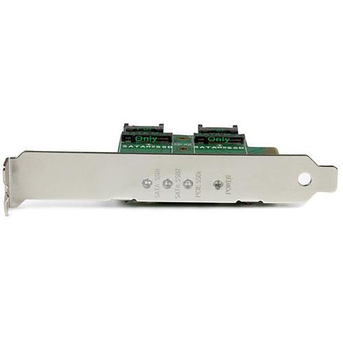 StarTech.com Carte contrôleur PCI-Express 4x (2x M.2 SATA III + 1x M.2 PCI-e NVMe) pas cher