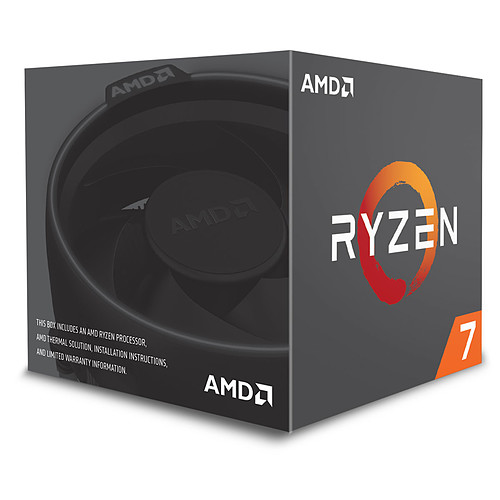 AMD Ryzen 7 2700 Wraith Spire LED (3.2 GHz) pas cher