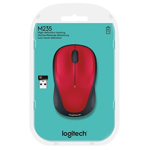 Logitech Wireless Mouse M235 (Rouge) pas cher