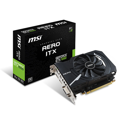 MSI GeForce GTX 1050 AERO ITX 2G OCV1 pas cher