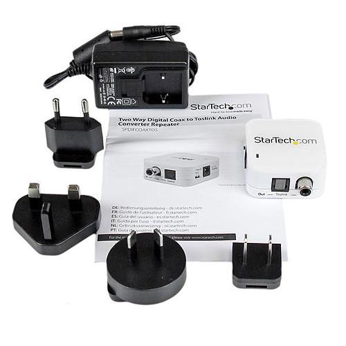 StarTech.com Répétiteur convertisseur audio SPDIF vers Toslink optique pas cher