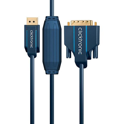 Clicktronic câble DisplayPort / DVI-D (1 mètre) pas cher