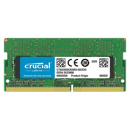 Crucial SO-DIMM DDR4 16 Go 2666 MHz CL19 Dual Rank X8 pas cher