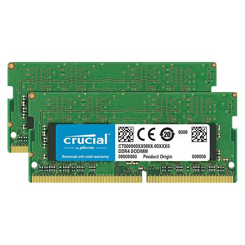 Crucial SO-DIMM DDR4 32 Go (2 x 16 Go) 2666 MHz CL19 Dual Rank X8 pas cher