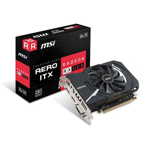 MSI Radeon RX 550 AERO ITX 2G OC pas cher