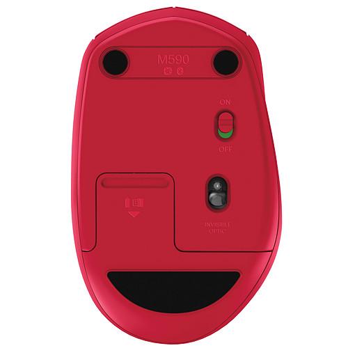 Logitech Wireless Mouse M590 Multi-Device Silent Rubis pas cher