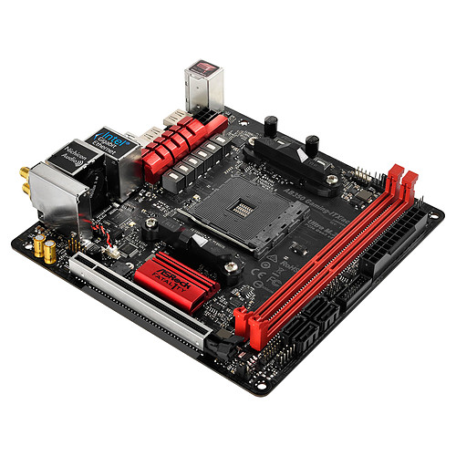 ASRock Fatal1ty AB350 Gaming ITX/ac pas cher