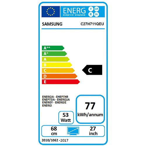 """Samsung 27"""" LED - LC27H711QEUXEN pas cher"""