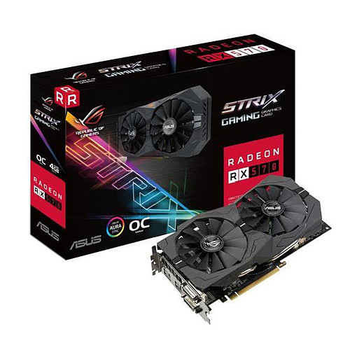 ASUS ROG STRIX AMD Radeon RX 570 O4G Gaming pas cher