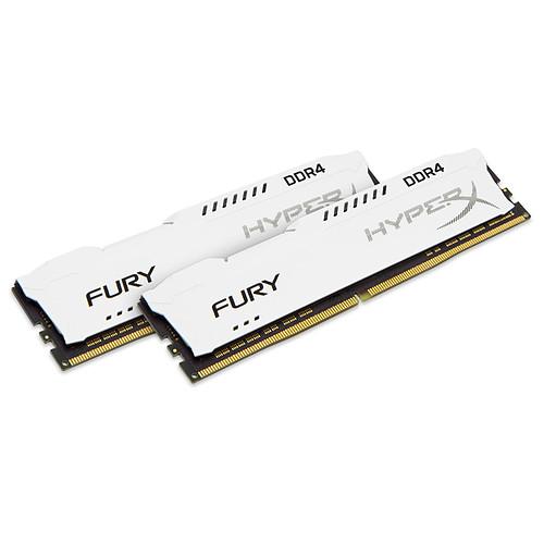HyperX Fury Blanc 16 Go (2x 8Go) DDR4 2666 MHz CL16 pas cher