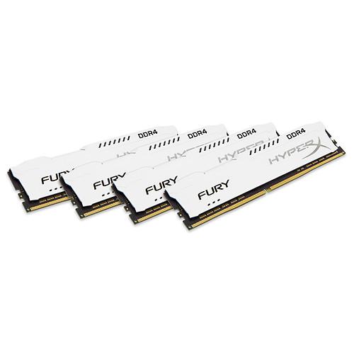 HyperX Fury Blanc 32 Go (4x 8 Go) DDR4 2400 MHz CL15 pas cher
