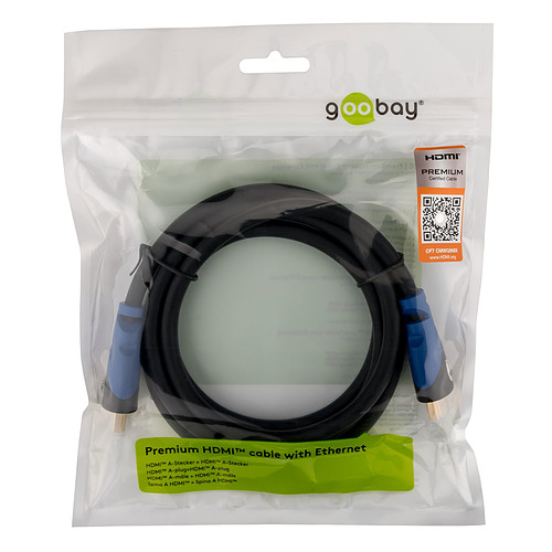 Goobay Premium High Speed HDMI with Ethernet (1 m) pas cher