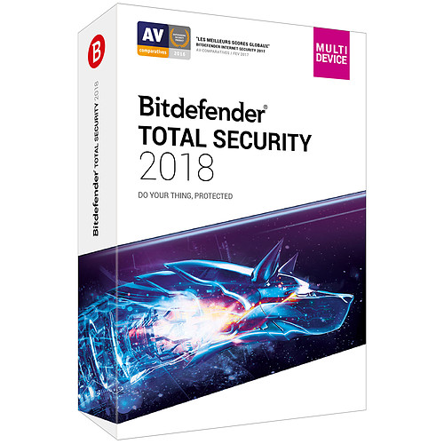 Bitdefender Total Security 2018 - Licence 2 Ans 10 Appareils pas cher