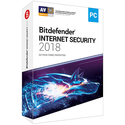 Bitdefender Internet Security 2018 - Licence 2 Ans 5 Postes pas cher