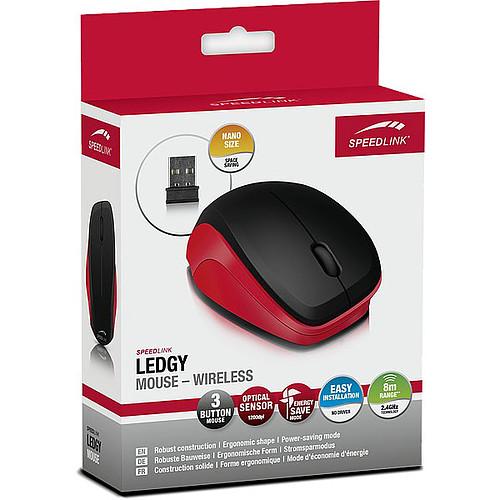 Speedlink Ledgy Wireless (noir/rouge) pas cher