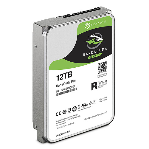 Seagate BarraCuda Pro 12 To (ST12000DM0007) pas cher
