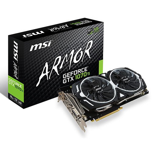 MSI GeForce GTX 1070 Ti ARMOR 8G pas cher