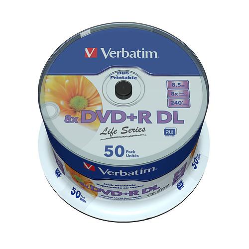 Verbatim DVD+R DL 8.5 Go 8x 240 min (par 50, spindle) pas cher