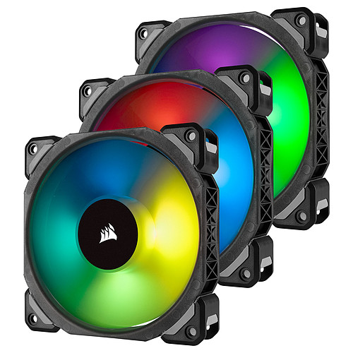 Corsair Air Series ML 120 Pro LED RGB Triple Pack pas cher
