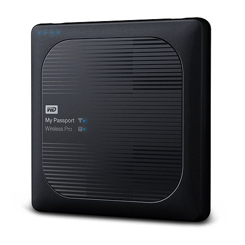WD My Passport Wireless Pro 2 To Noir (Wi-Fi/USB 3.0/SD-Card) pas cher