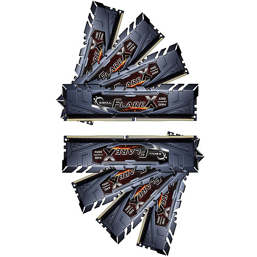 G.Skill Flare X Series 64 Go (8x 8 Go) DDR4 2933 MHz CL16 pas cher