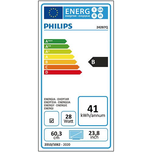 "Philips 24.1"" LED - 240B7QPJEB pas cher"