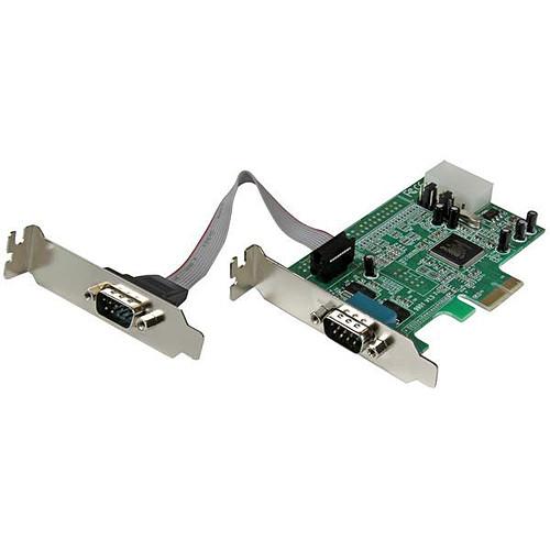 StarTech.com Carte PCI-E avec 2 ports DB-9 - UART 16550 pas cher