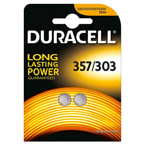 Duracell 357/303 1.5V (par 2) pas cher