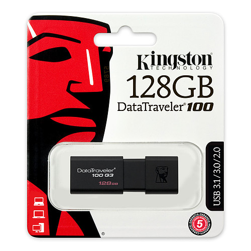 Kingston DataTraveler 100 G3 128 Go pas cher