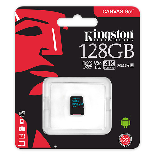 Kingston Canvas Go! SDCG2/128GBSP pas cher
