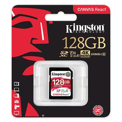 Kingston Canvas React SDR/128GB pas cher