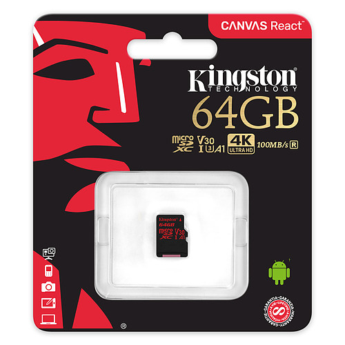 Kingston Canvas React SDCR/64GBSP pas cher