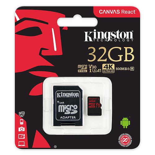 Kingston Canvas React SDCR/32GB pas cher