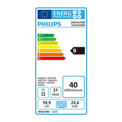 """Philips 23.6"""" LED - 243V5LHSB pas cher"""