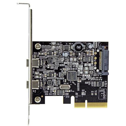 StarTech.com Carte contrôleur PCI-E 4x - 2 ports USB 3.1 Type C pas cher