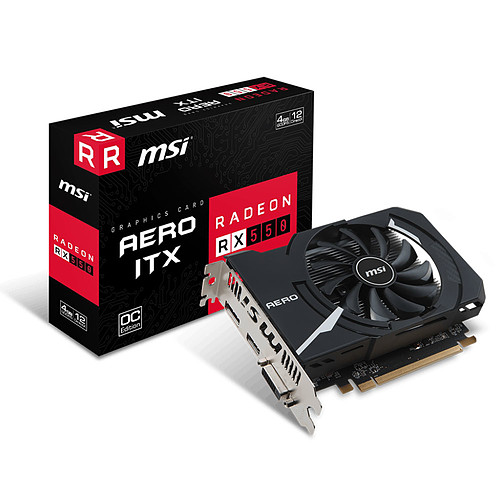 MSI Radeon RX 550 AERO ITX 4G OC pas cher
