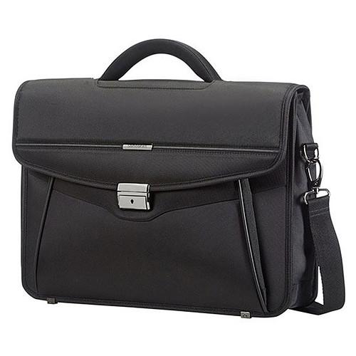 Samsonite Desklite Briefcase 1 Soufflet Noir pas cher