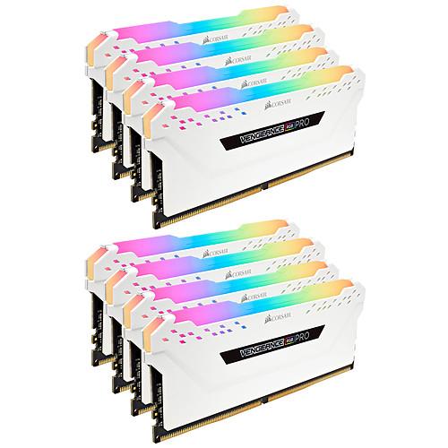 Corsair Vengeance RGB PRO Series 64 Go (8x 8 Go) DDR4 3000 MHz CL15 pas cher