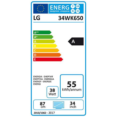 "LG 34"" LED 34WK650 pas cher"