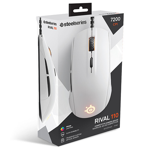 SteelSeries Rival 110 (blanc) pas cher