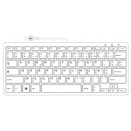 R-Go Compact Keyboard Blanc pas cher