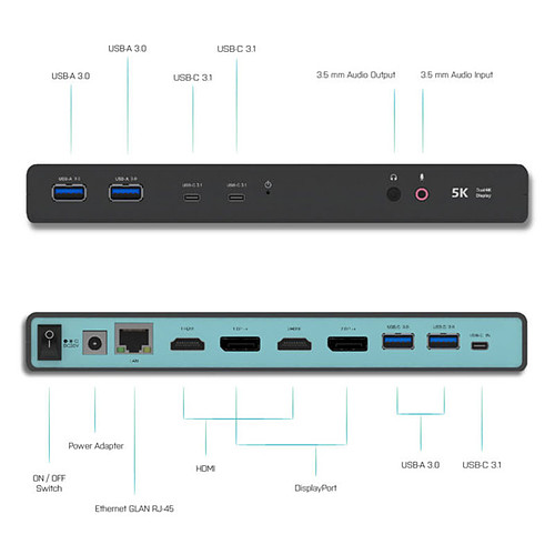 i-tec Dual Display Docking Station Power Delivery pas cher