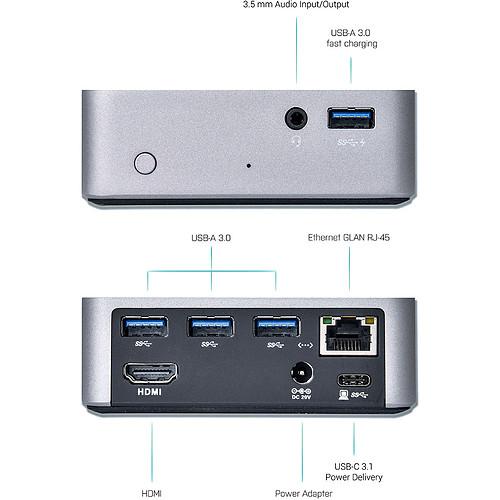 i-tec USB-C Metal 4K Docking Station + Power Delivery pas cher