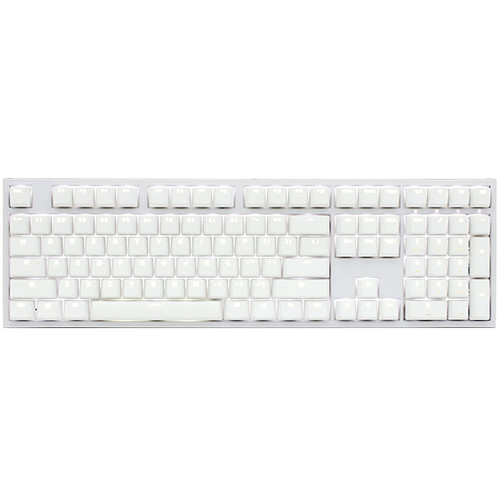 Ducky Channel One 2 Backlit (coloris blanc - Cherry MX Blue - LEDs blanches) pas cher