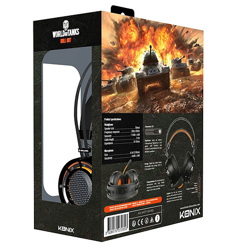 Konix World of Tanks Pro Gaming GH-60 pas cher
