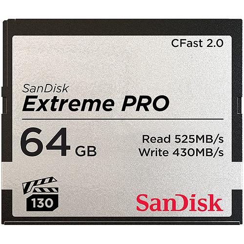 SanDisk Carte mémoire Extreme Pro CompactFlash CFast 2.0 64 Go pas cher