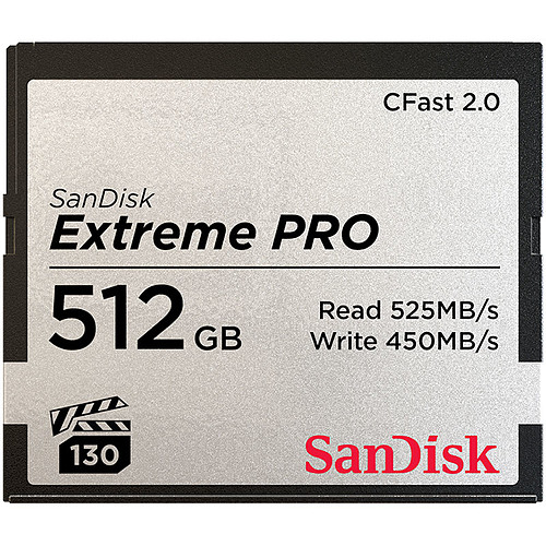SanDisk Carte mémoire Extreme Pro CompactFlash CFast 2.0 512 Go pas cher