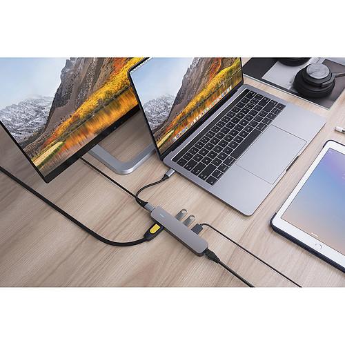 HyperDrive USB-C 6-en-1 (Gris) pas cher