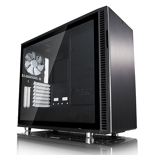 Fractal Design Define R6 USB-C Tempered Glass (noir) pas cher